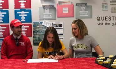 Silba signs letter of intent with her parents