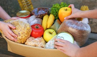 food in basket
