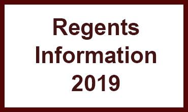Regents Information for 2019