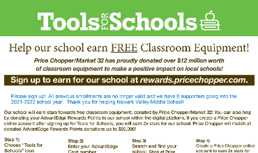 Price Chopper's Tools for Schools Program is Back!