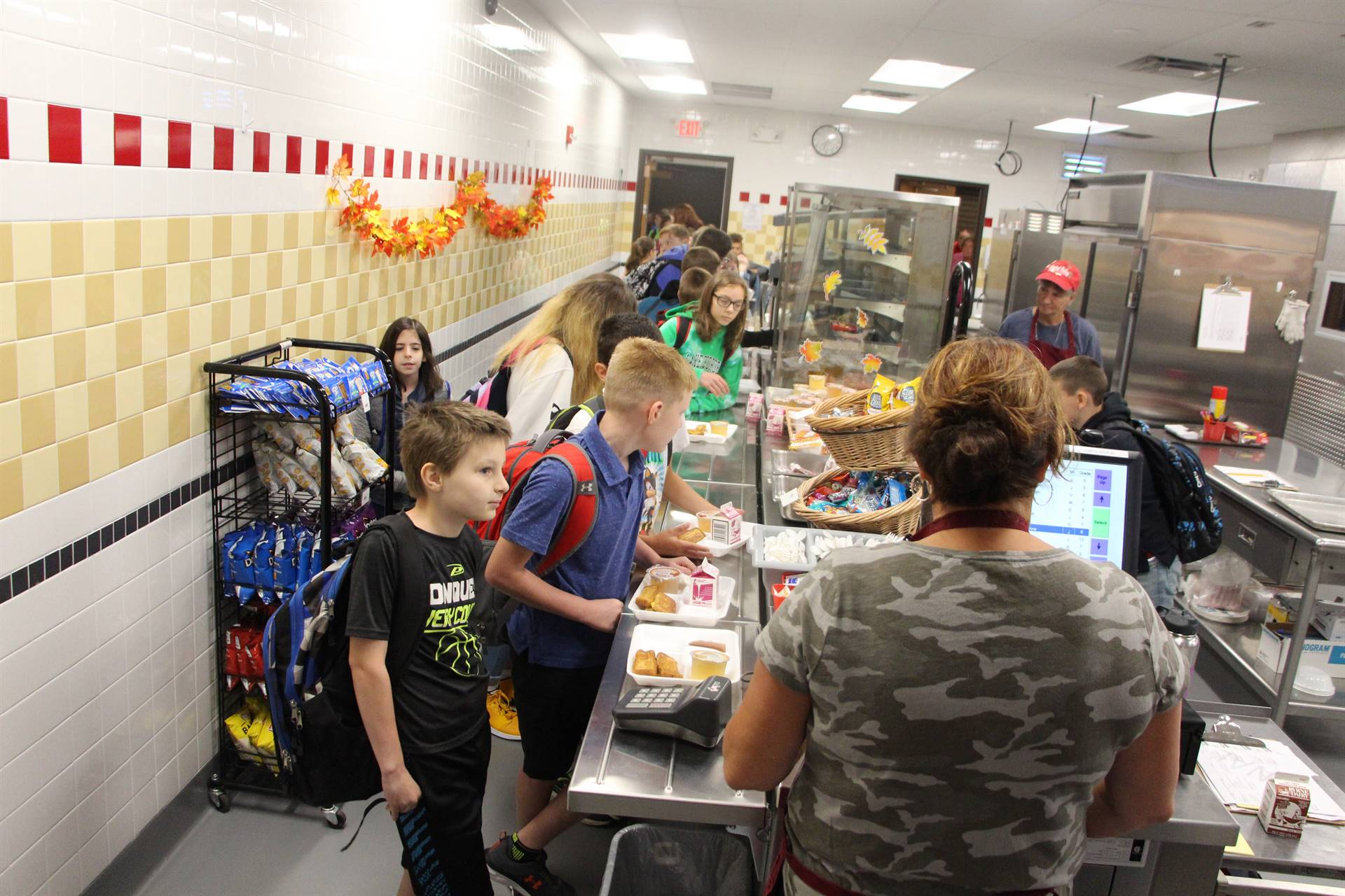 Cafeteria in middle school