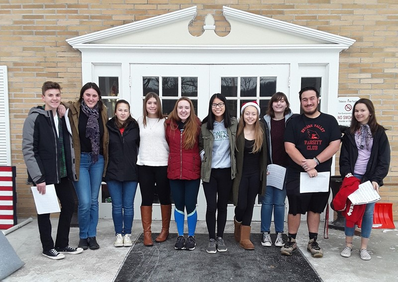Friends of Rachel and Interact members in front of Riverview Manor Nursing Home