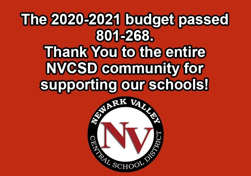 The 2020-2021 budget passed 801-268. Thank you to the entire NVCSD community for supporting our schools!