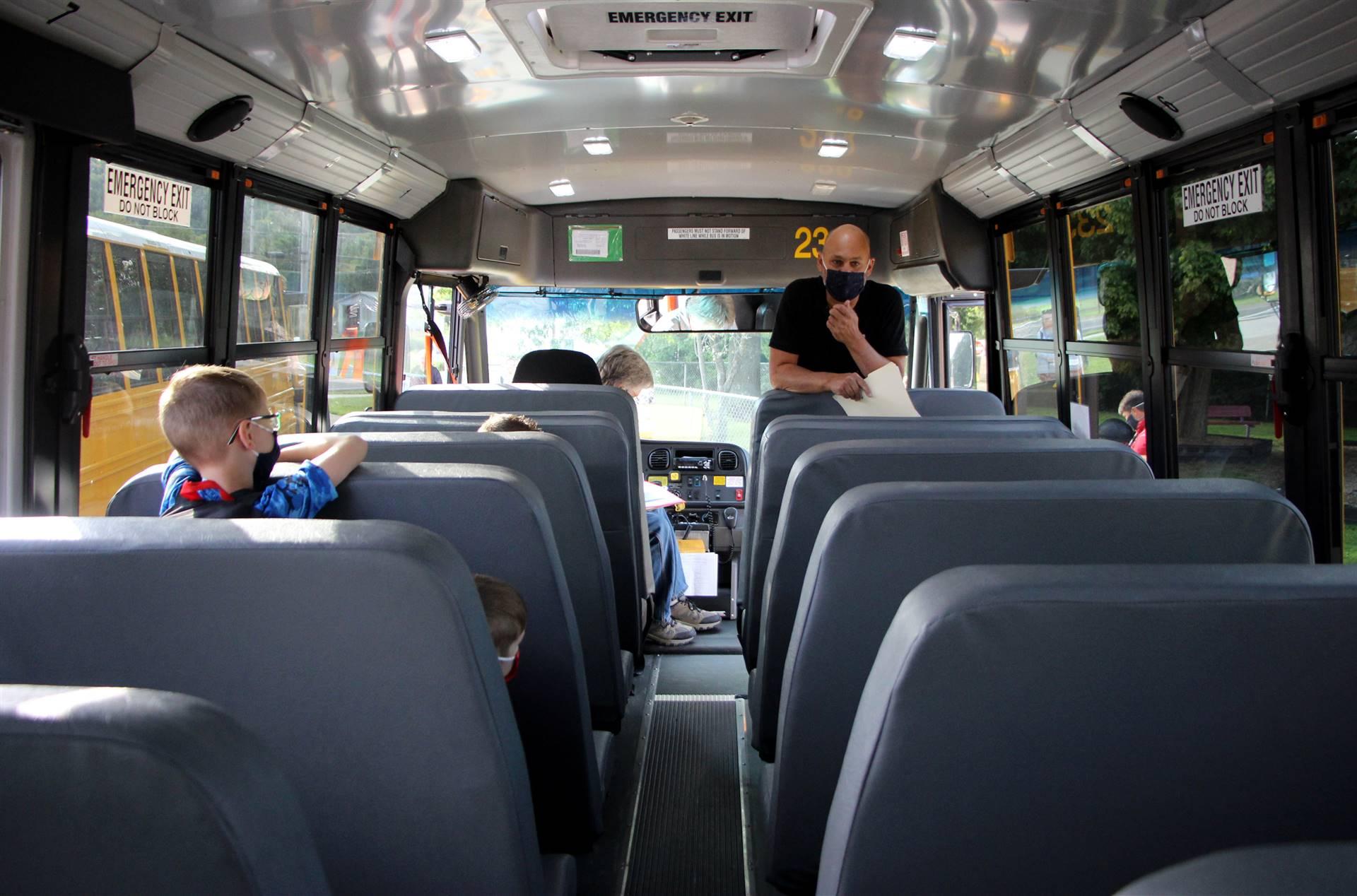 principal on schoolbus