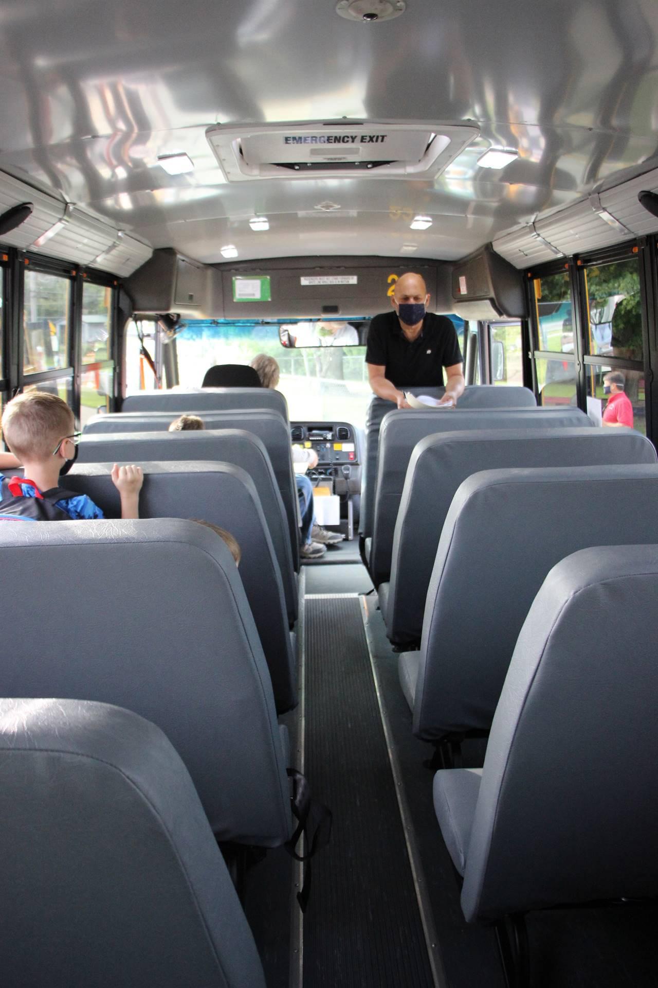 principal on school bus